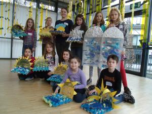 Jugendkunstschule zur Ausstellung von Angelika Herker 2012